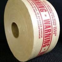 reinforced paper tape-warning