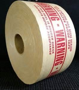 reinforced paper tape-warning