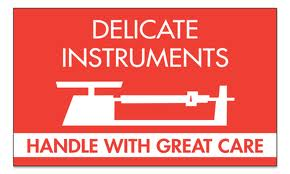 delicate instruments sticker