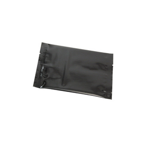 metallized black flat pouch