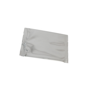 metallized silver flat pouch